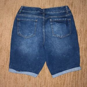 Time and Tru Shorts - Time and Tru cuffed denim shorts